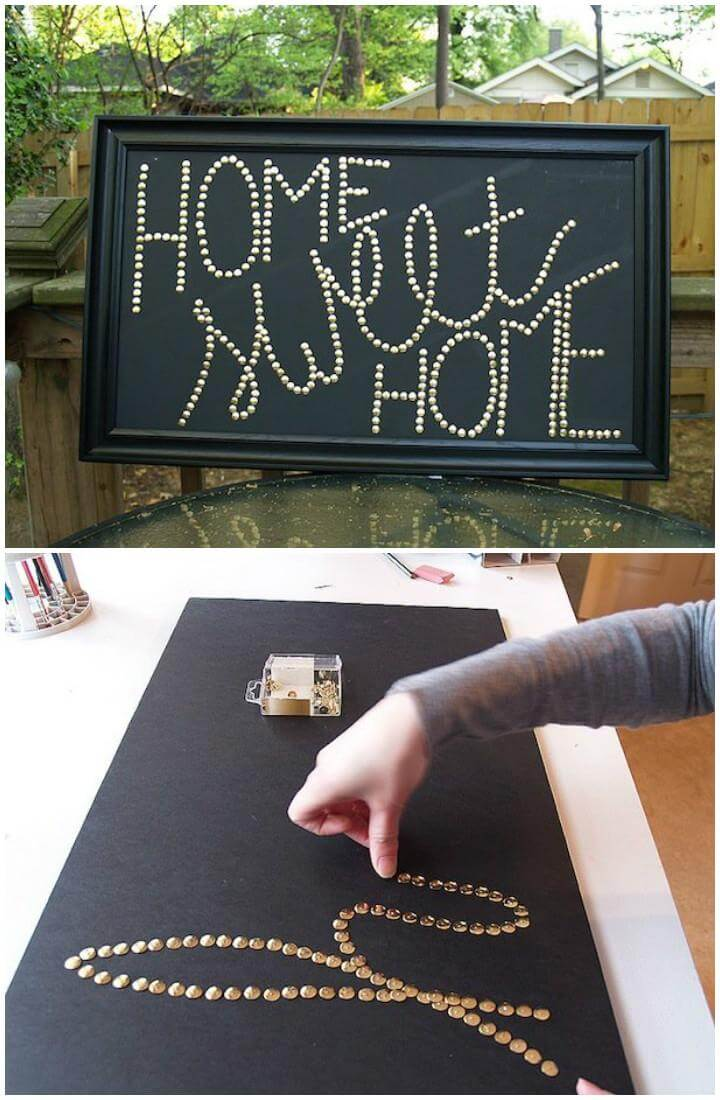 DIY Super Beautiful Push Pin Wall Art