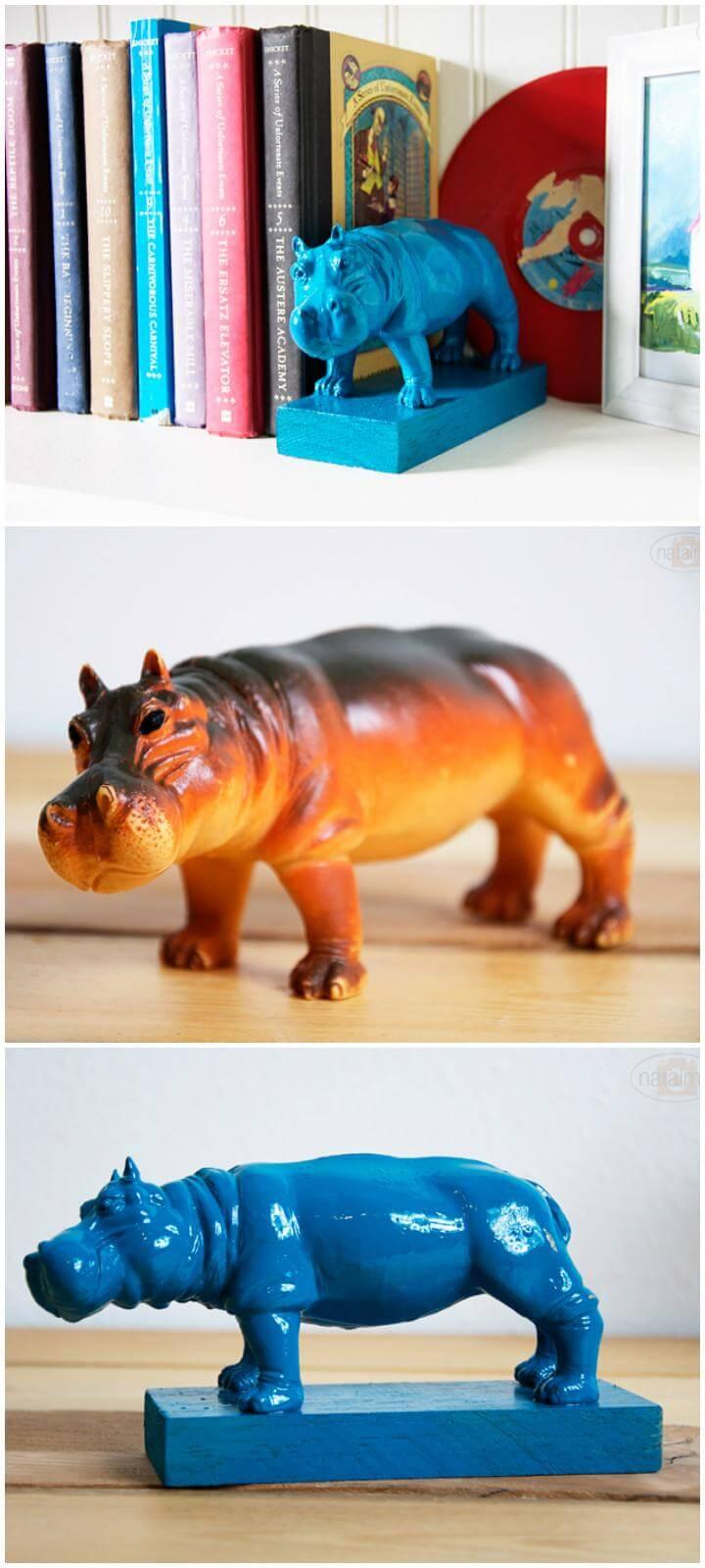 DIY Super Easy Animal Bookend