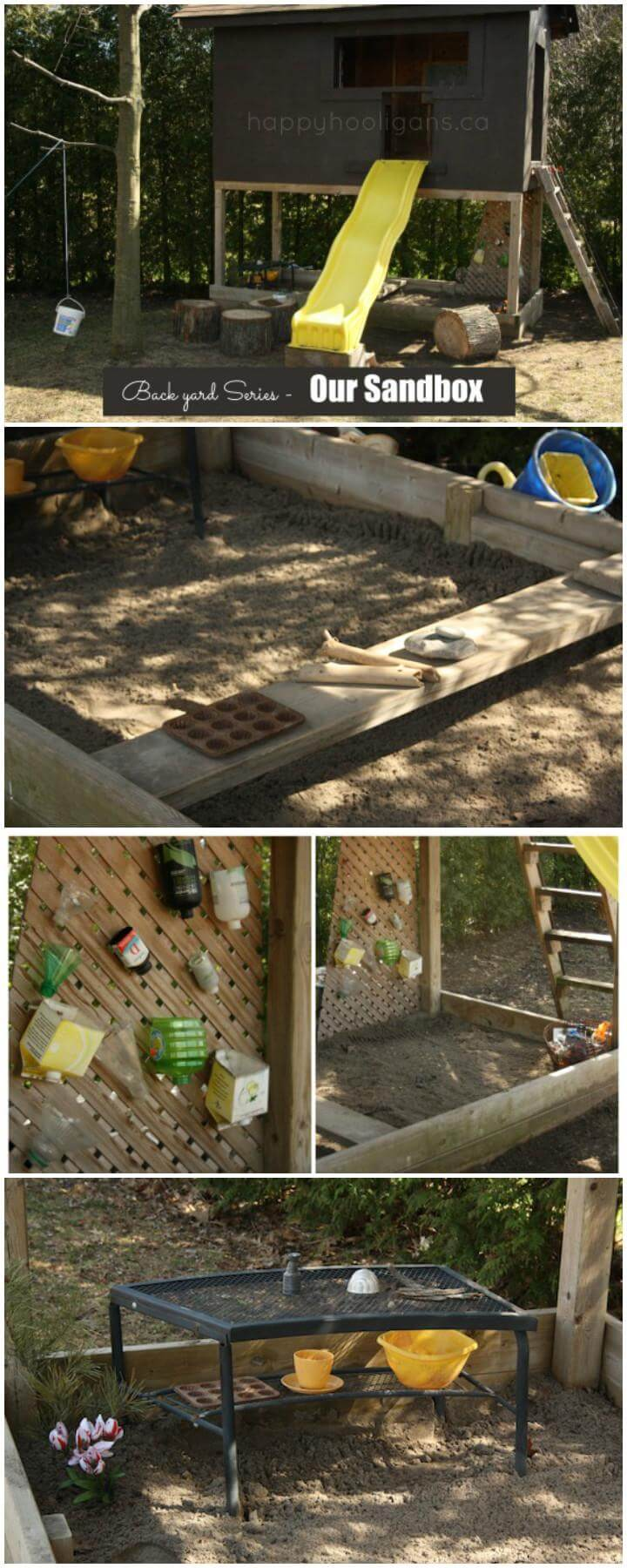DIY Superb Backyard Sandbox
