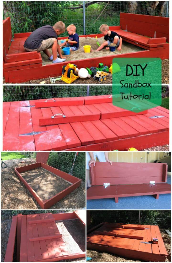 DIY Superb Wooden Handmade Sandbox