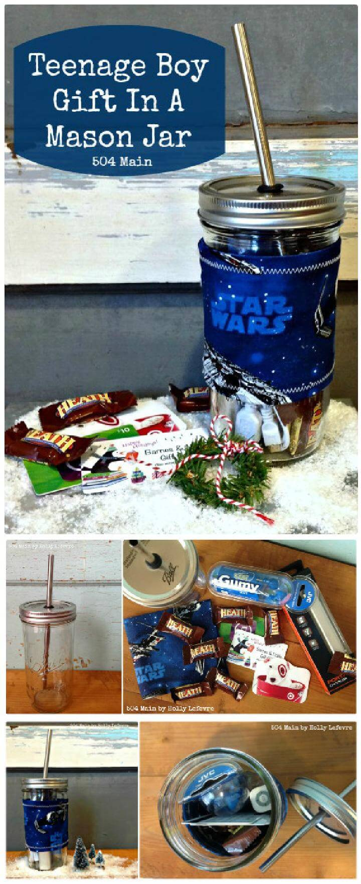 DIY Teenage Boy Gift in Mason Jar