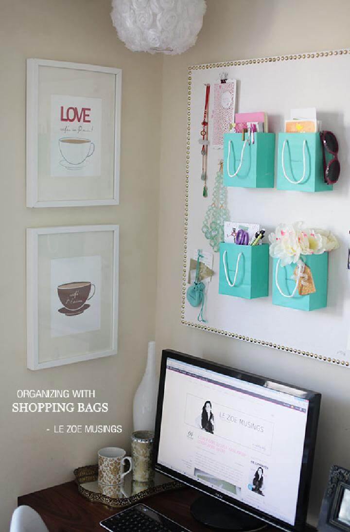 DIY Wall Hanging Shopping Bag Accessory Organizers