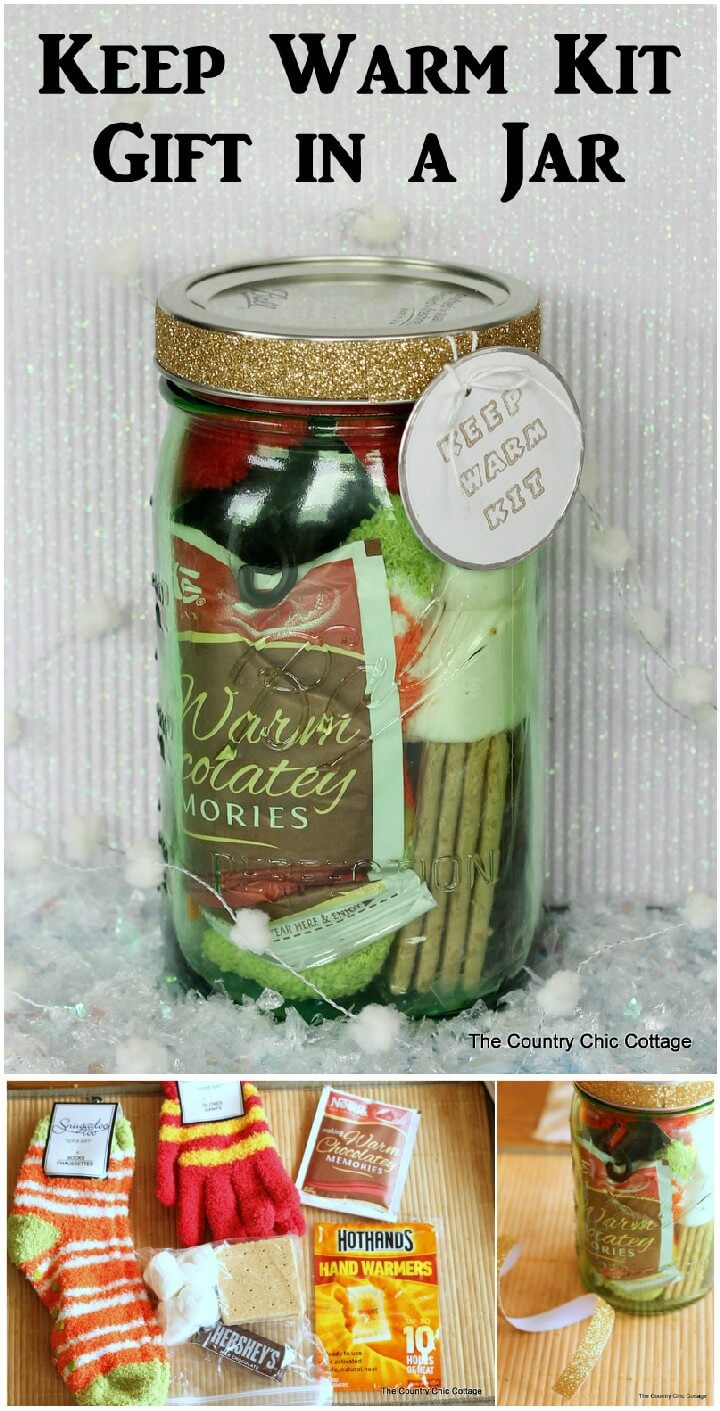 DIY Warm Kit Mason Jar Gift