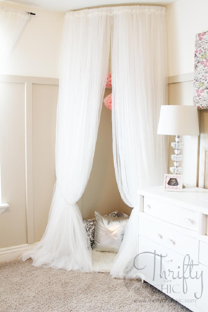 DIY Whimsical Canopy Tent or Reading Nook