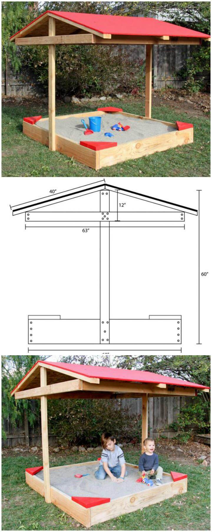 Great 60 DIY Sandbox Ideas And Projects For Kids Page 9 Of 10 DIY   Sandbox Design