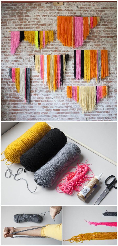 DIY Yarn Banner or Wall Art