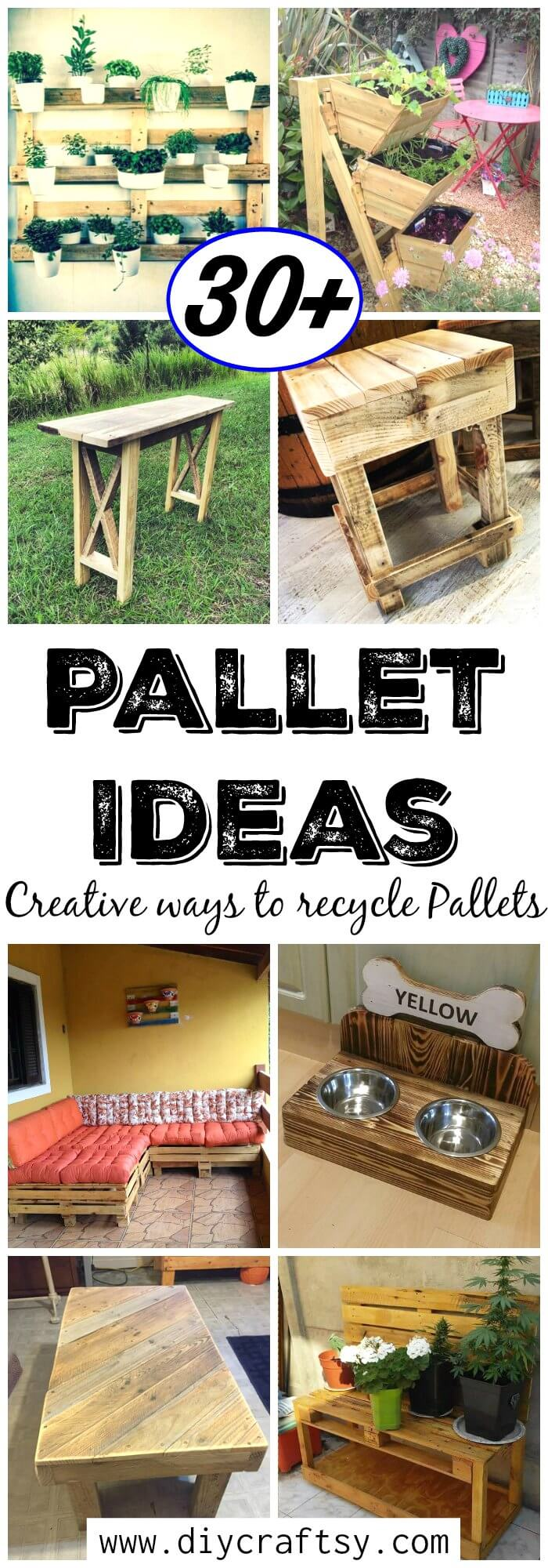 30 pallet ideas creative ways to recycle pallets diy for Creative ways to recycle