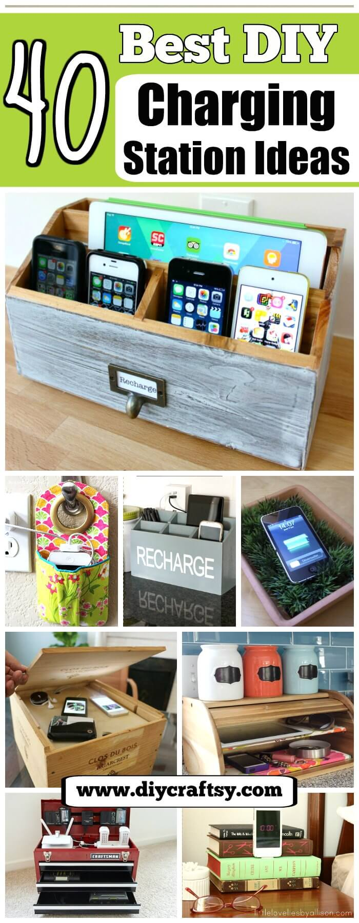 Diy Charging Station Ideas 40 Best Diy Charging Station