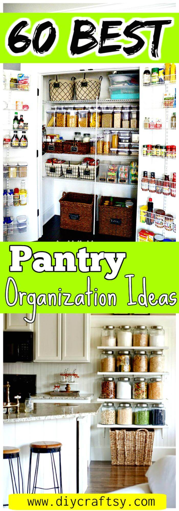 Kitchen Pantry Diy Projects: 60 Best Pantry Organization Ideas