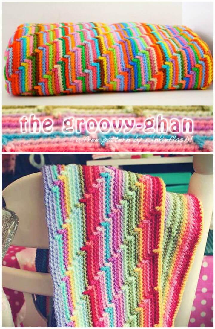 Easy Crochet Baby Blanket For Beginners Ripple Afghan