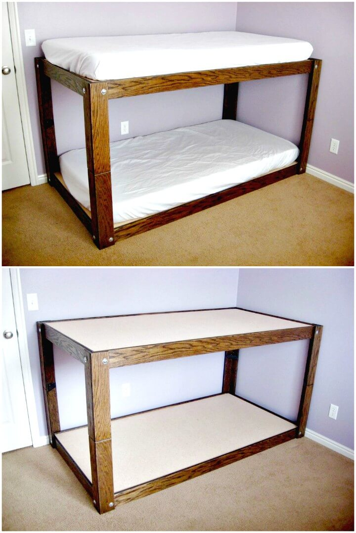 22 Low Budget DIY Bunk Bed Plans to Upgrade Your Kids Room ...