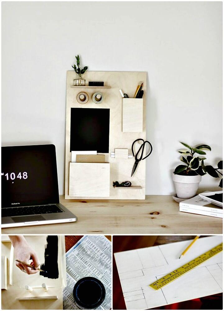 Make Your Own Wood Desk Organizer