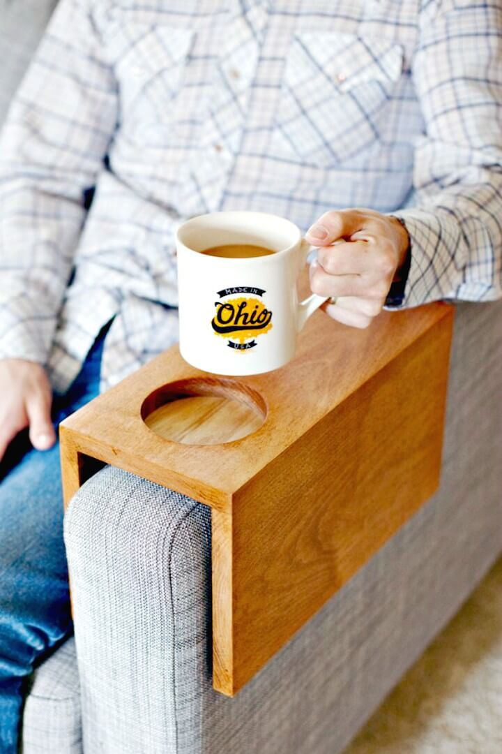 10 Best DIY Sofa Arm Table Ideas DIY amp Crafts : Make Your Own Wooden Sofa Armrest Table from www.diycraftsy.com size 720 x 1080 jpeg 92kB