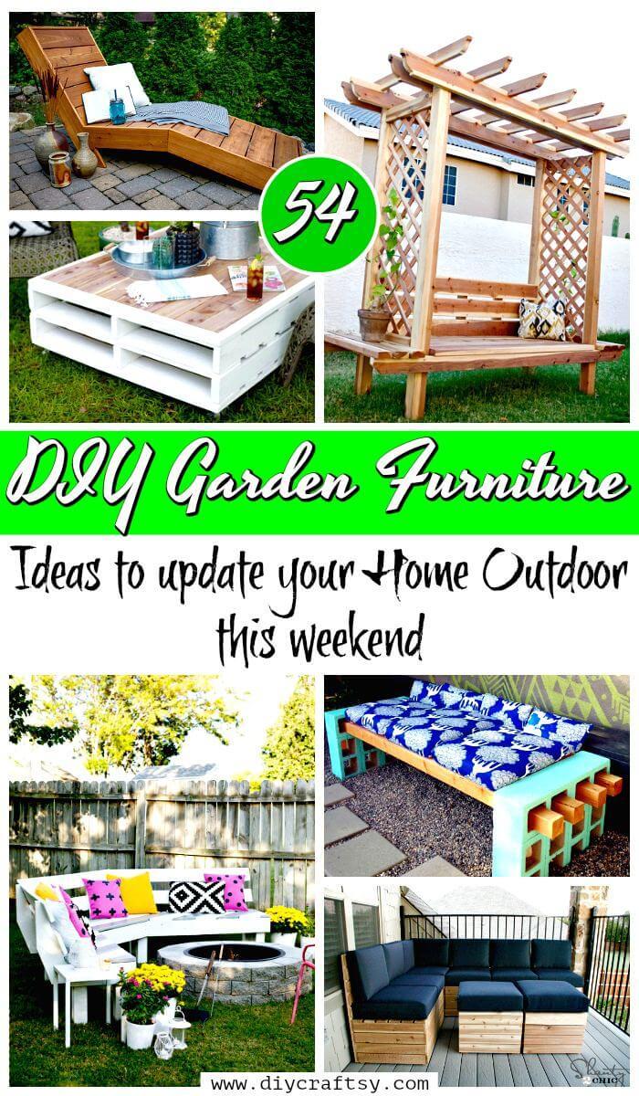 54 Diy Garden Furniture Ideas To Update Your Home Outdoor This Weekend