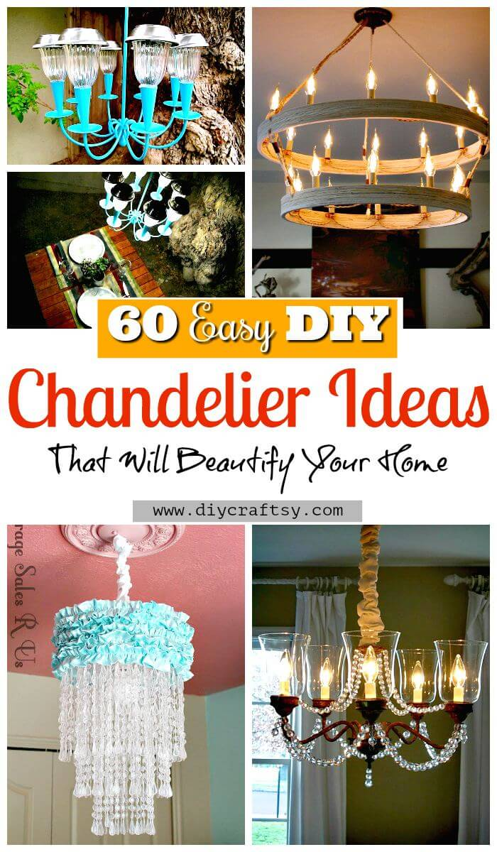 60 easy diy chandelier ideas that will beautify your home for Waste material craft items